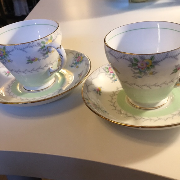 Pair Grafton of England vintage cups & saucers